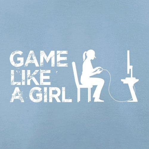 Game Like A Girl - Herren T-Shirt - 13 Farben Himmelblau