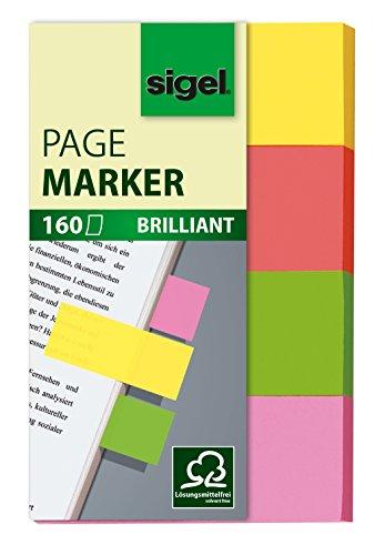 SIGEL HN630 Haftmarker, 4 Farben, 160 Streifen im Format 20 x 50 mm