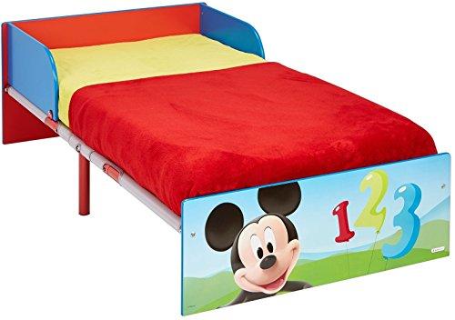 Disney Mickey Mouse Bett für Kleinkinder, Holz, blau, 143 x 77 x 42.5 cm
