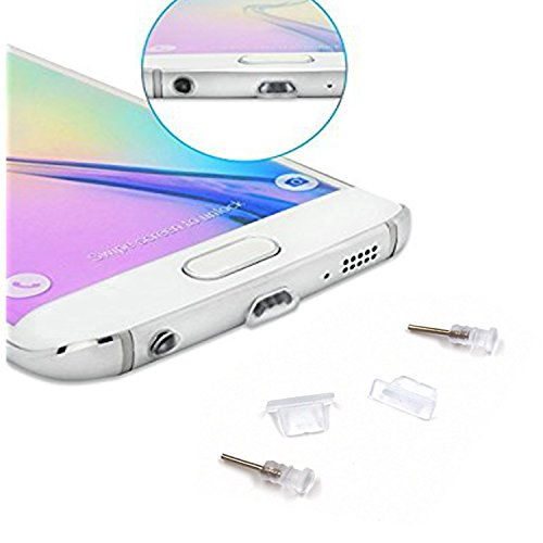Preisvergleich Produktbild 4X Anti-Dust Stöpsel Für - Medion Life P5015 - Staubschutz Stöpsel / Micro-USB Anschluss / Kopfhörereingang - Staub StöpselTransparant