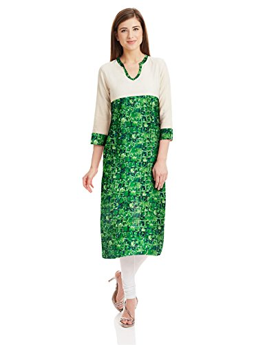Prakhya Women's Straight Kurta (SW887GREEN-M)