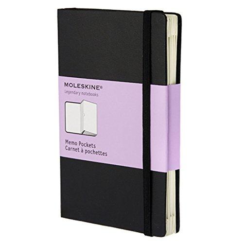 Moleskine Organizer Notizbücher / Fächerbuch / Pocket / Fester Einband / Schwarz (Pocket Classic Organizer)