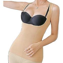 Glield Faja Reductora Tipo Body Sin Costuras Para Mujer SW04 (piel, L)