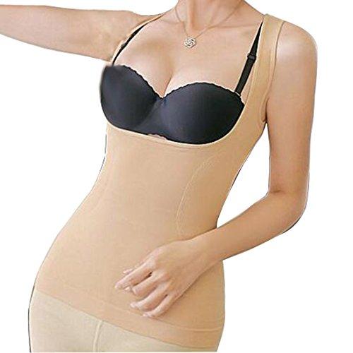 Glield Faja Reductora Tipo Body Sin Costuras Para Mujer SW04 (piel, M)
