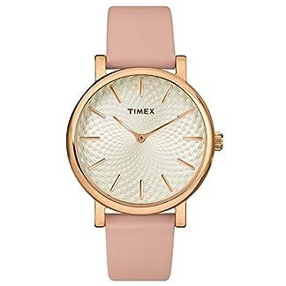 Timex Reloj Analógico para Mujer de Cuarzo con Correa en Cuero TW2R85200