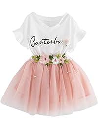 K-youth Vestido de niña Vestido Niña Floral Tutú Princesa Vestidos Vestido para Bebés Ropa