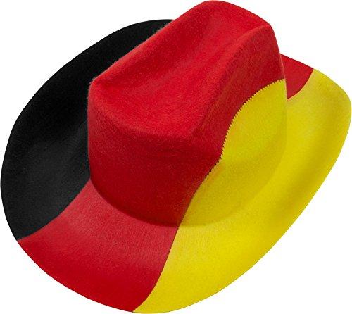 Preisvergleich Produktbild 1-50 Fußballhüte Fußballhut Cowboyhut Deutschland Germany Fan Artikel WM 2018 Farbe 1 Stück