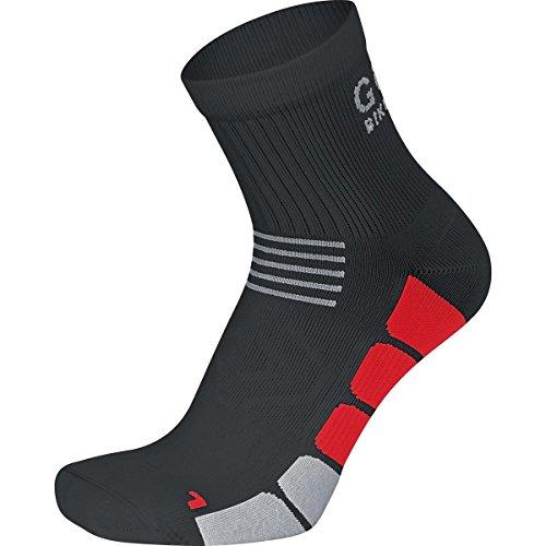 GORE BIKE WEAR, Calzini Ciclismo Unisex, Media lunghezza, Gore Selected Fabrics, SPEED Mid, Taglia 38-40, Nero/Rosso, FESPED993503