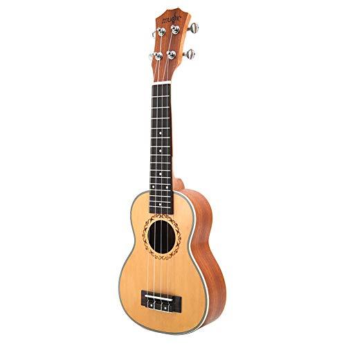 NUYI 21 Zoll Ukulele Kleine Gitarre Ingman Spruce Sapele Klassisches Musikinstrument Retro Style