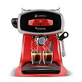 19 Bar Siebträgermaschine für Kaffee & Espresso, Milchaufschäumer, Elektrische Espressomaschine, Kaffeemaschine