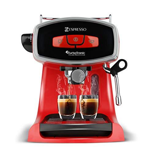 19 Bar Siebträgermaschine für Kaffee & Espresso, Milchaufschäumer, Elektrische Espressomaschine,...