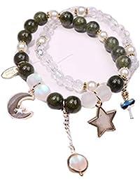 527ac5c70e0d Amazon.es  pulseras cuero para hombre - Cadena y anillo   Pulseras ...
