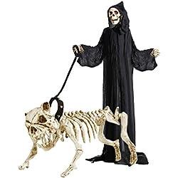 Esqueleto con cuerda de decoración para Halloween
