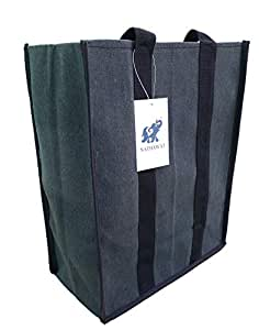 """NATHAWAT Shopping Bag Heavy Duty Daily Use for Vegetable, Grocery and Dairy Products Canvas 11""""x4.5""""x14"""" inches Pack of 1"""