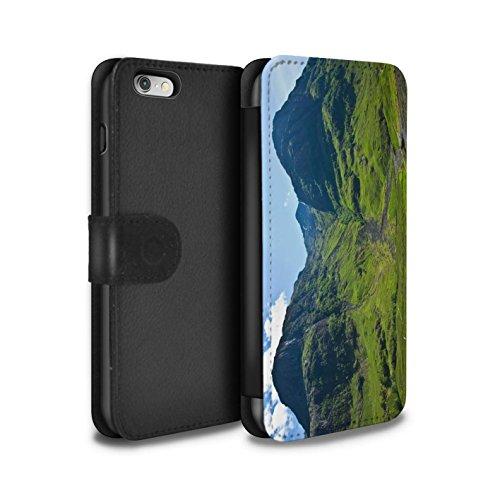 STUFF4 PU-Leder Hülle/Case/Tasche/Cover für Apple iPhone 6 / Wasserfall Muster / Schottisch Landschaft Kollektion Tal
