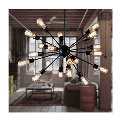 Lighting Sputnik Deckenleuchte Vintage Industrial Bar Chandelier 21 Lampenfassung Pendelleuchte (Farbe: Warm Light), Weißlicht White Wall Plate Insert