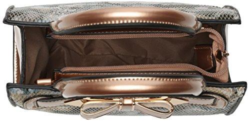 Swanky Swans - Mila Floral Mini Handbag, Borse a tracolla Donna Oro (Rose Gold)