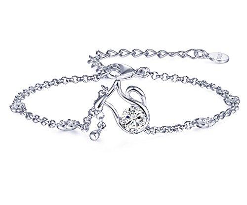 Epinki 925 Sterling Silber Damen Armband Wassermann Freundschaftsarmbänder 15CM Wassermann mit Weiß Zirkonia