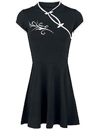 Fashion Victim Tribal Dress Robe noir