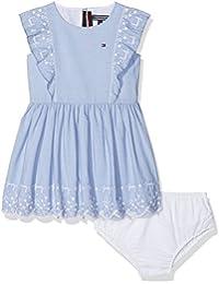 Tommy Hilfiger M Charming Embro Ruffle Dress Slvls, Vestido para Niñas