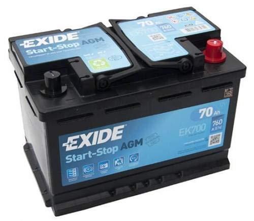 Exide EK700stop Start 12V 70Ah 760CCA tipo 096AGM VRLA batteria auto–no Spill–3anni di garanzia (controllare le dimensioni prima dell' acquisto)