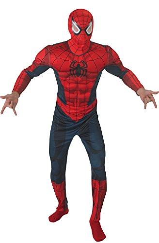 Spiderman Deluxe Kostüm Comic dunkelblau-rot M / (Spiderman Muskel Kostüme)