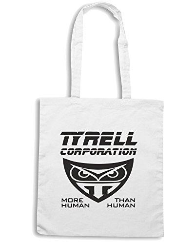 T-Shirtshock - Borsa Shopping OLDENG00025 blade runner tyrell corporation Bianco