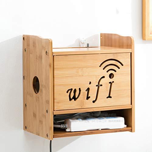 XSY2 Floating Shelf Aufbewahrungsboxen Socket Finishing Box Halter/Ständer für WiFi Router TV Box Set Top Box -