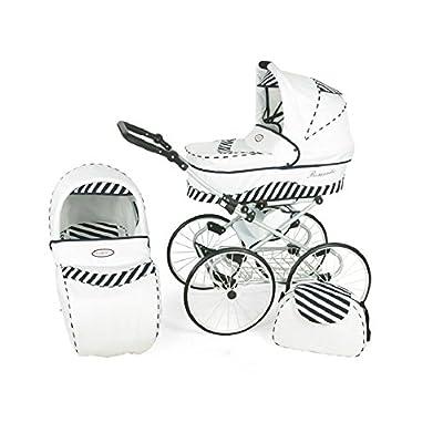 Hogartrend Romantic 17-Inch Wheel Baby Pram - 3Piece Complete Set  Brandworl