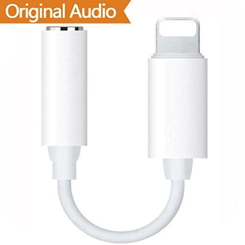 Lightning Jack Adapter, Lightning auf 3,5 mm Kopfhörerbuchse Adapter für iPhone 8 / 8Plus iPhone 7 / 7Plus iPhone X iPod / iPad Lightning Stecker auf 3,5 mm AUX Audio - Ipod Mp3 Apple
