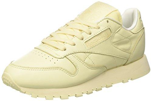 Zapatillas amarillas outfit. Reebok classic Leather, (Amarillo claro)