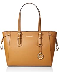 3298a64bb671ac Michael Kors Medium Voyager Leather Top-Handle Tote