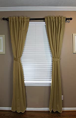 Calyx Interiors Back Tab Blackout Curtain Set 52W
