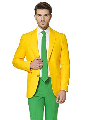 Generique - Opposuit Green and Gold für Herren S (46) (Suit Herren Green Jacket)