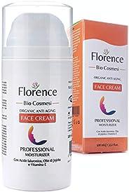 100ml - BIO Crema Viso Acido Ialuronico Puro 100% Con Noti Agenti Antirughe ed Antietà. Crema Idratante Notte