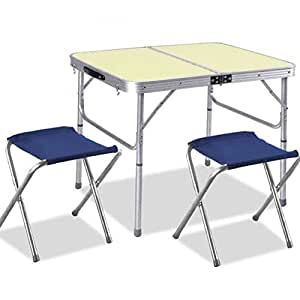 Bakaji Camping Table With Aluminium Frame Folding Pic Nic