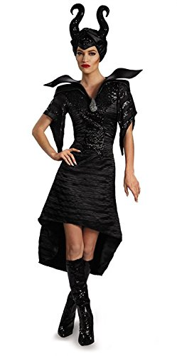 Kostüm Maleficent'deluxe Adult - Maleficent Disney Deluxe Maleficent Christening Gown Adult Costume 4-6