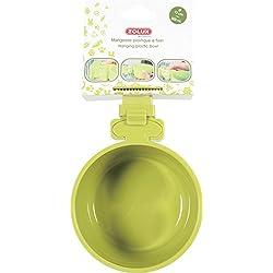 Comedero de plástico para roedores para fijar verde diámetro 12cm (500ml Maxi)