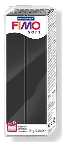 FIMO soft Großblock 350gr. Farbe schwarz (Clay Fimo)