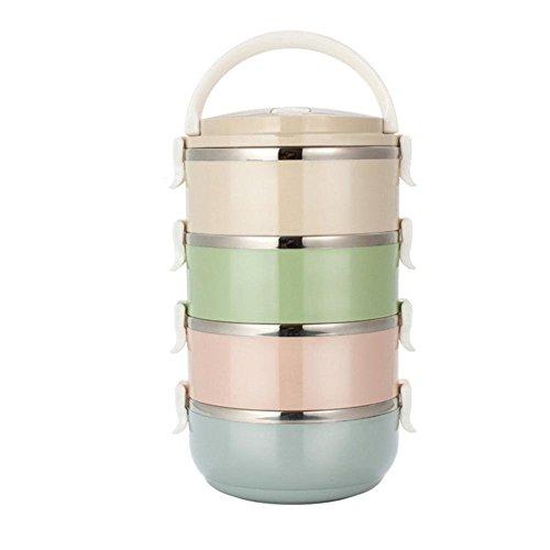 Brotdose Edelstahl Behälter Luftdicht Brotdose mit Fächern Frühstücksbox für Haus, Büros, Picknicks und so weiter,Leicht zu Reinigen,Tragbar.Druch Futurepast