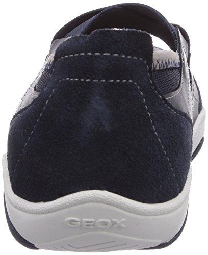 Geox D Arrow A, Baskets Basses femme Bleu - Blau (NAVYC4002)
