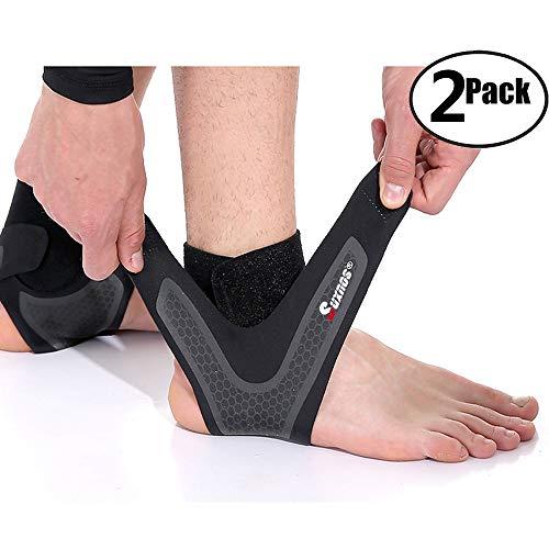 Knöchel Bandage Sprunggelenk Fußgelenk Fersenschiene Knöchelmanschette Fussgelenkbandage Fußgelenkstütze 【1 Paar】Linke undrechte Füße für Männer Frauen Knöchelbandage stützt den Fuß beim Sport