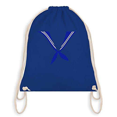 Karneval & Fasching - Matrose Kostüm Tuch - Turnbeutel I Gym Bag Royalblau