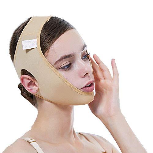 LQUIDE Face-Lift-Maske, dünnes Doppelkinn-Artefakt/v Gesichtsstrahl-Gesichts- / Kieferchirurgie-Set/Gesichtsmaske (Farbe), XS