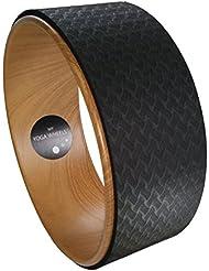 MyYogaWheels UK Yoga Rad-Stütze,verbessert Balance, Rücken-Flexibilität, Asana- + Inversion-Streckung, Pilates Biegungen, löst tiefe Gewebespannung-Physio-Massage zum Öffnen der Brust, Rücken, Hüfte + Schultern