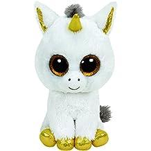 TY Glubschis - Pegasus Einhorn, weiß/gold - Beanie Boos - 15 cm