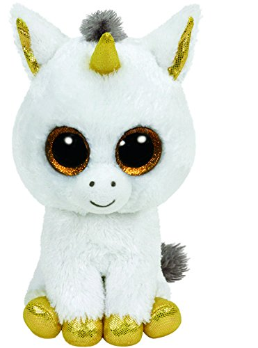TY - Beanie Boos Pegasus, unicornio, 15 cm, color blanco (United Labels Ibérica 36179TY)