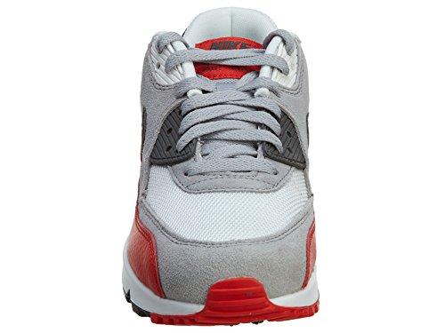 Nike Air Max 90 (Gs), Baskets Basses Garçon Gris Blanc