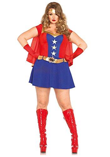 Leg Avenue 85432X - Comic Book Girl Damen kostüm, Größe 3X-4X (EUR 48-50)