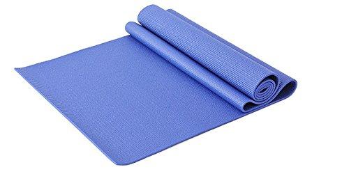 LLCP PVC Umweltschutz Yoga Matte, Weiche Rutschfeste, Gesundheit Geschmacklos, Reißfest Haltbar, Indoor Aktivitäten Outdoor Sport Yoga Hall,Blue